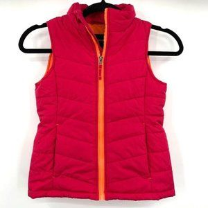 LAND'S END Puffer Vest Quilted Pink Coat Jacket 6X